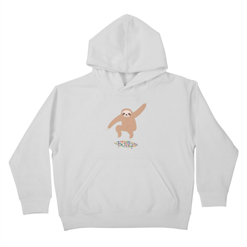 Sloth Gravity Kids Pullover Hoody by andywestface's Artist Shop
