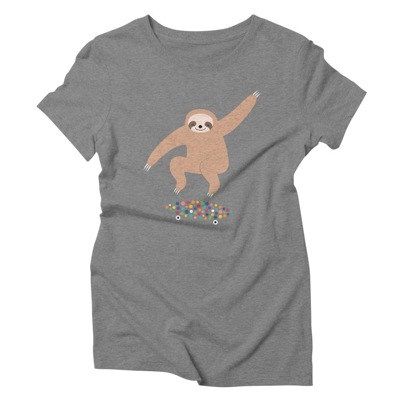 Sloth Gravity Women's Triblend T-Shirt by andywestface's Artist Shop
