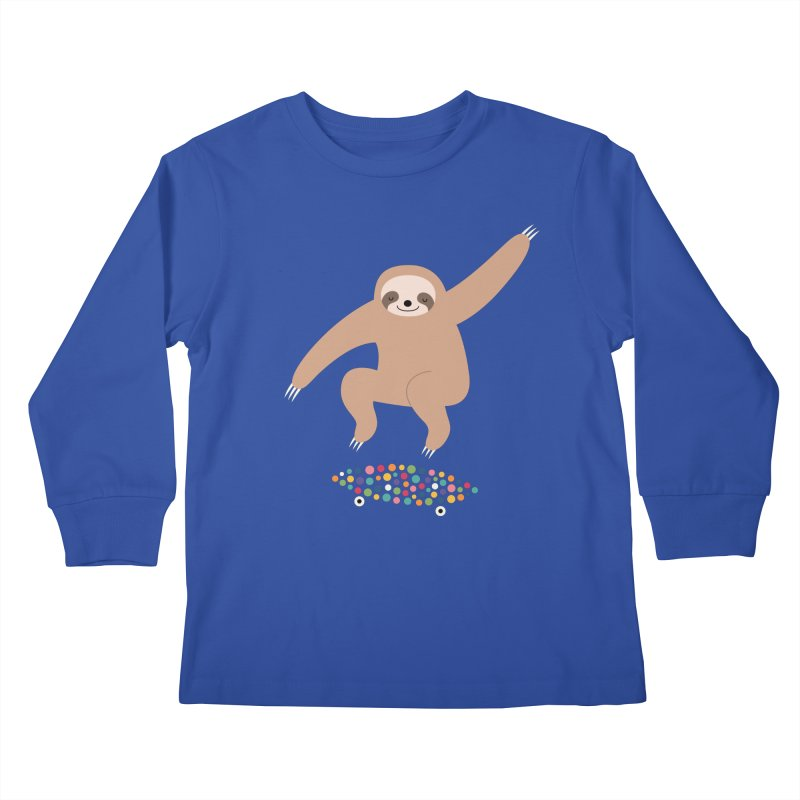 Sloth Gravity Kids Longsleeve T-Shirt by andywestface's Artist Shop