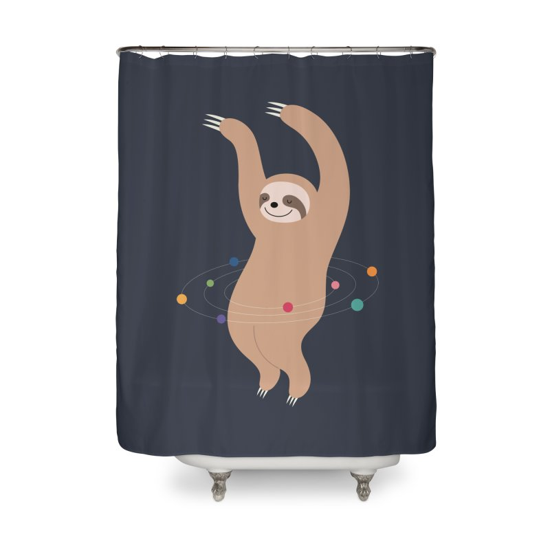 Sloth Galaxy Home Shower Curtain by andywestface's Artist Shop