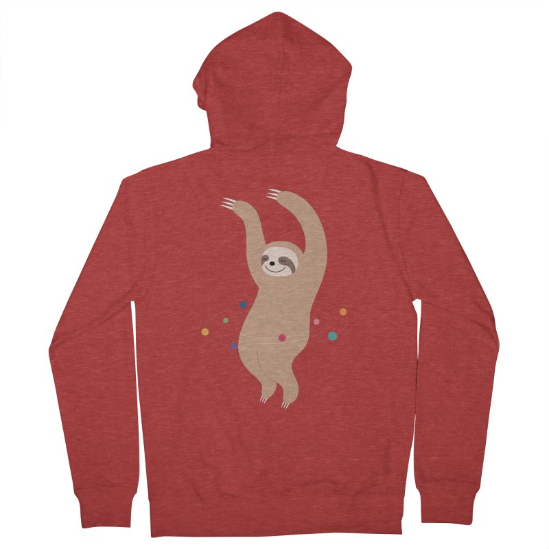 Sloth Galaxy Men's French Terry Zip-Up Hoody by andywestface's Artist Shop