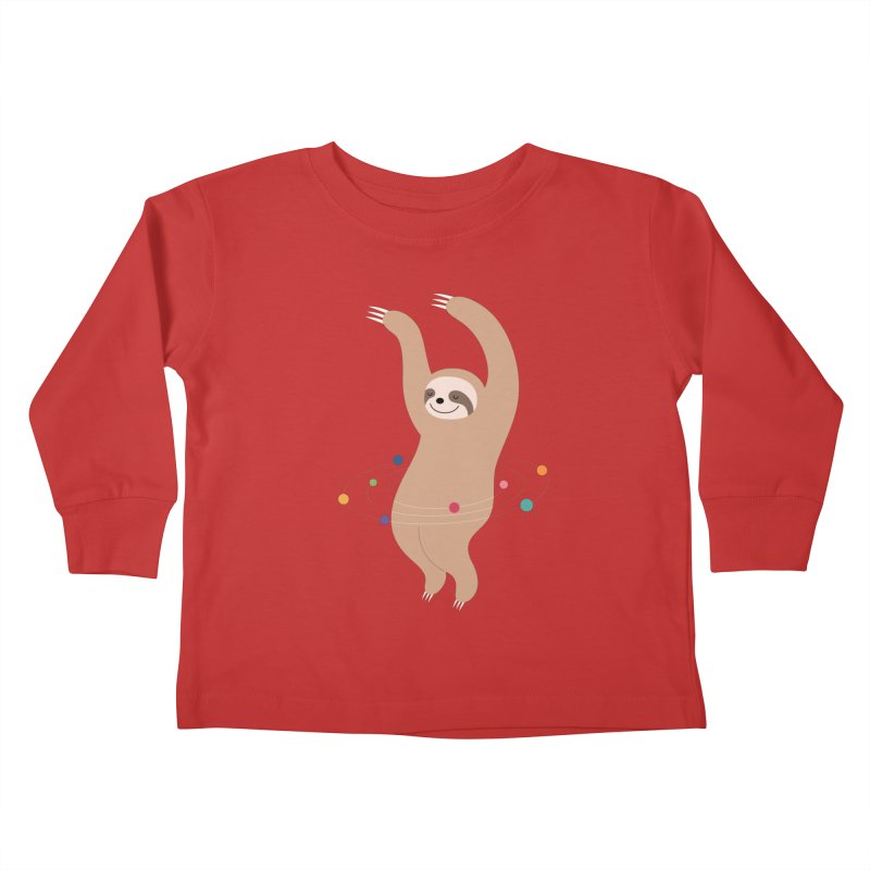 Sloth Galaxy Kids Toddler Longsleeve T-Shirt by andywestface's Artist Shop