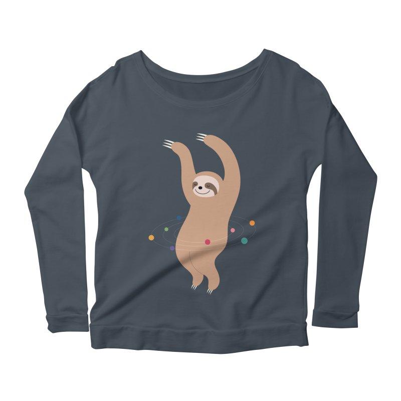 Sloth Galaxy Women's Longsleeve Scoopneck  by andywestface's Artist Shop