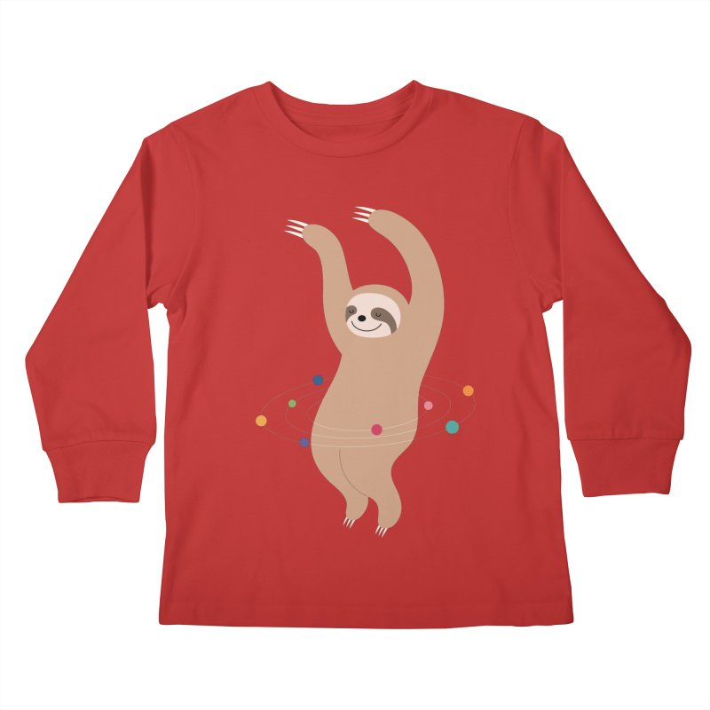 Sloth Galaxy Kids Longsleeve T-Shirt by andywestface's Artist Shop
