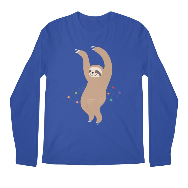 Sloth Galaxy Men's Regular Longsleeve T-Shirt by andywestface's Artist Shop