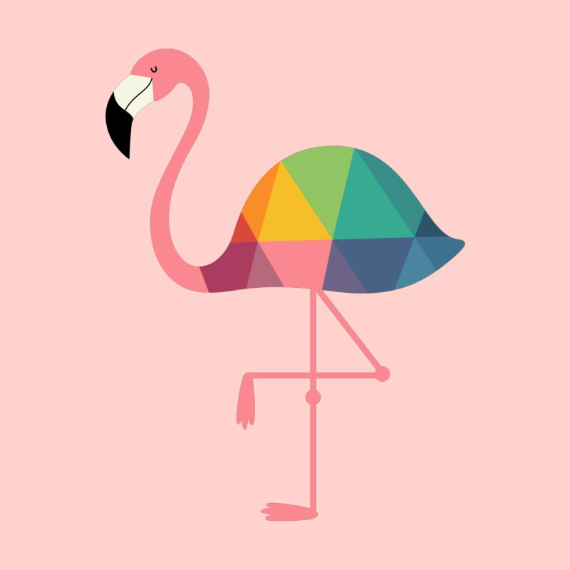 Rainbow Flamingo None  by andywestface's Artist Shop