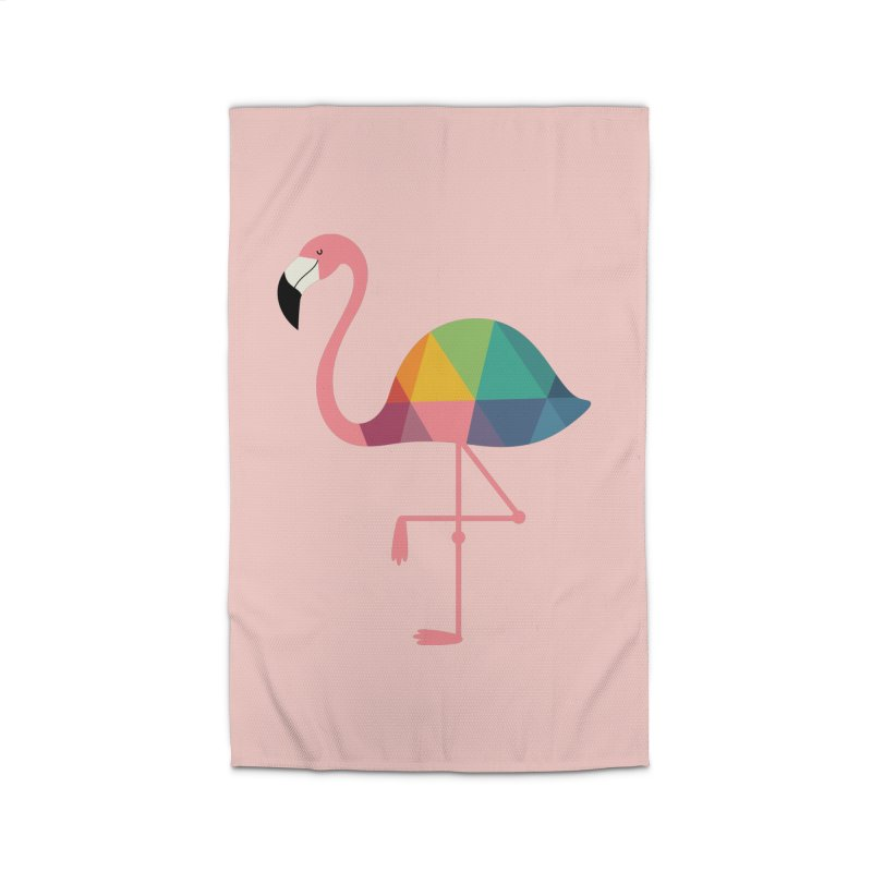Rainbow Flamingo Home Rug by andywestface's Artist Shop