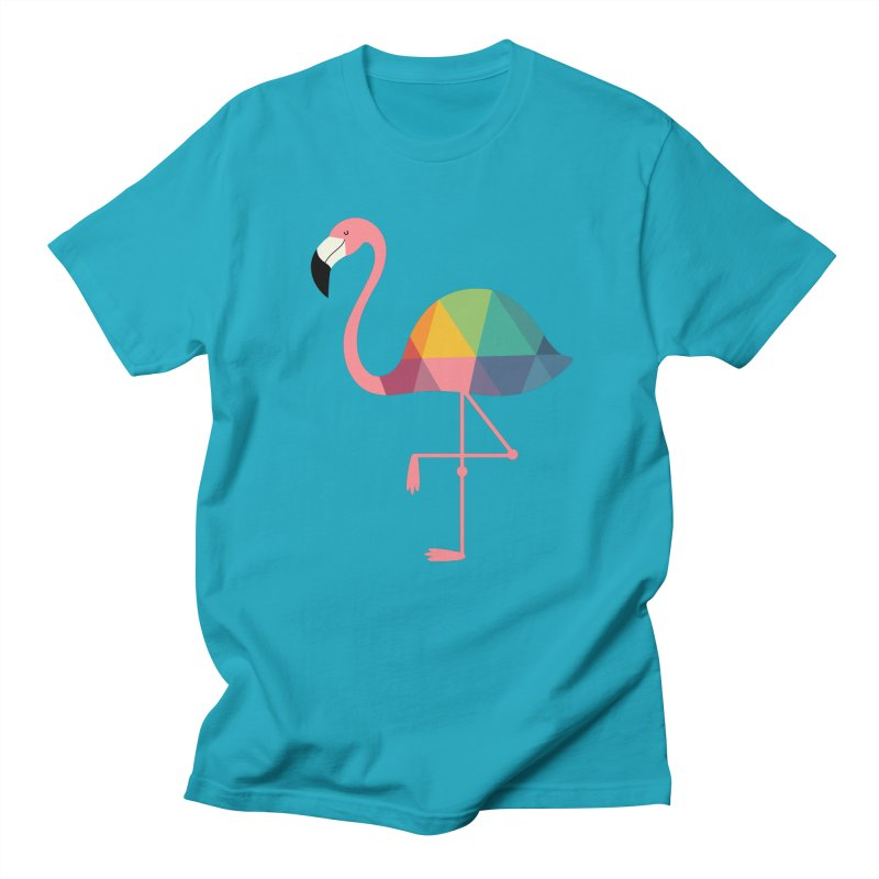 Rainbow Flamingo Men's T-Shirt by andywestface's Artist Shop