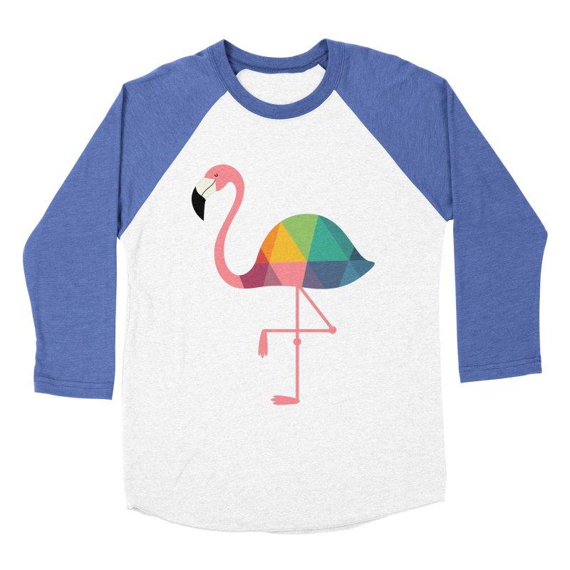 Rainbow Flamingo Women's Baseball Triblend Longsleeve T-Shirt by andywestface's Artist Shop
