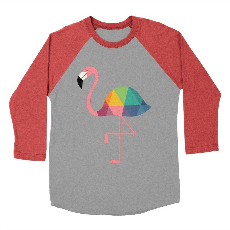 Rainbow Flamingo Men's Baseball Triblend Longsleeve T-Shirt by andywestface's Artist Shop