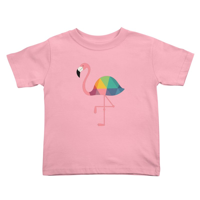 Rainbow Flamingo Kids Toddler T-Shirt by andywestface's Artist Shop