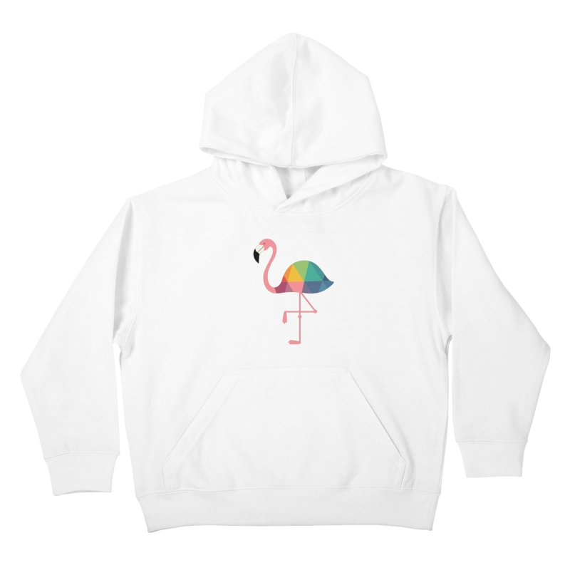 Rainbow Flamingo Kids Pullover Hoody by andywestface's Artist Shop