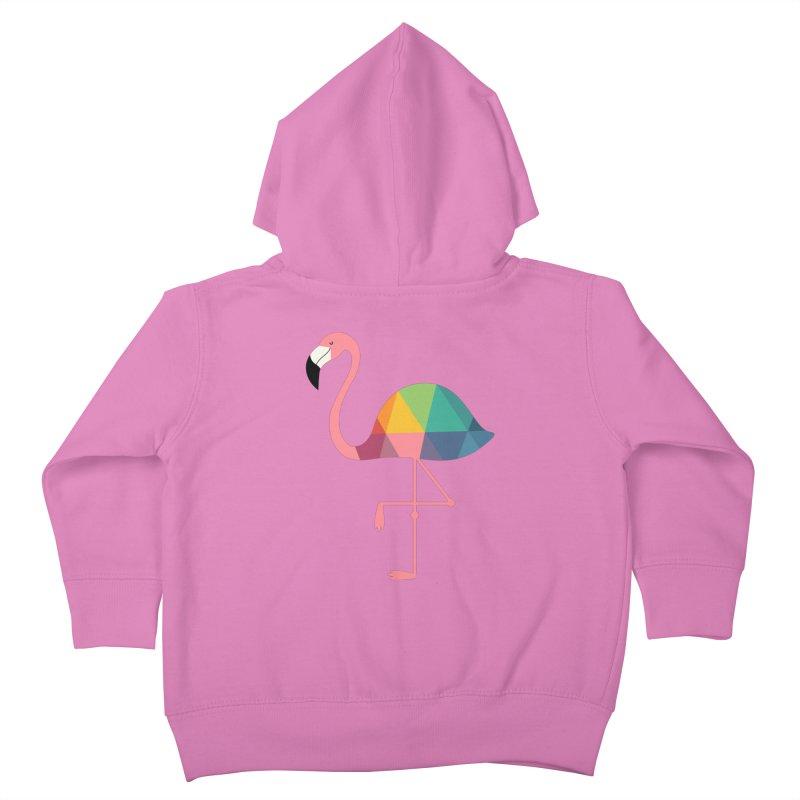 Rainbow Flamingo Kids Toddler Zip-Up Hoody by andywestface's Artist Shop