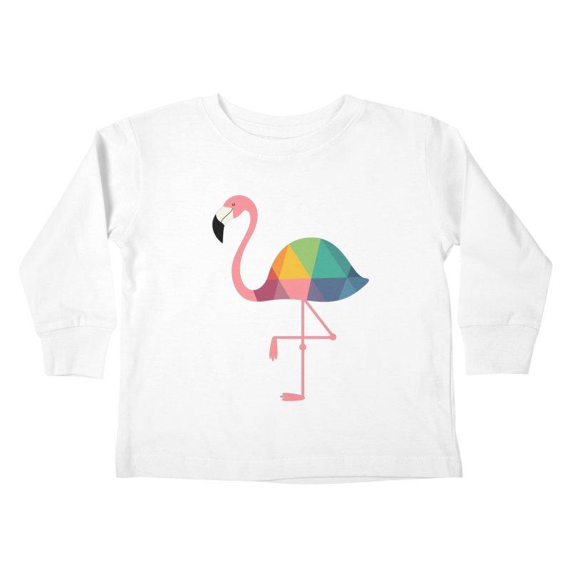 Rainbow Flamingo Kids Toddler Longsleeve T-Shirt by andywestface's Artist Shop