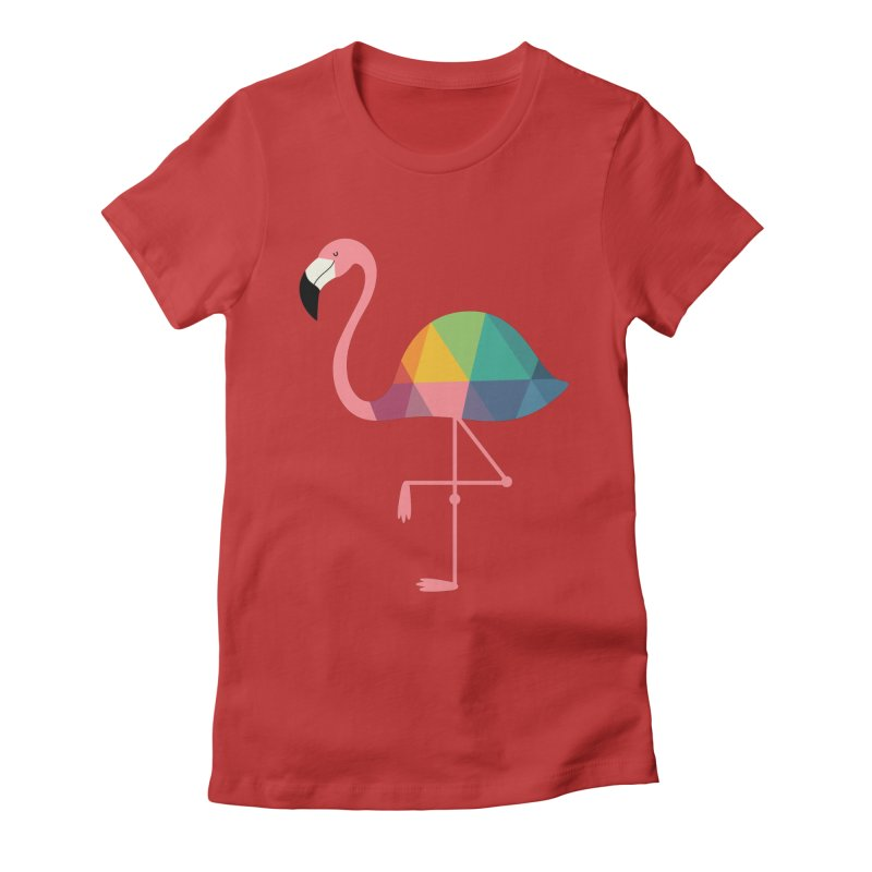 Rainbow Flamingo Women's  by andywestface's Artist Shop