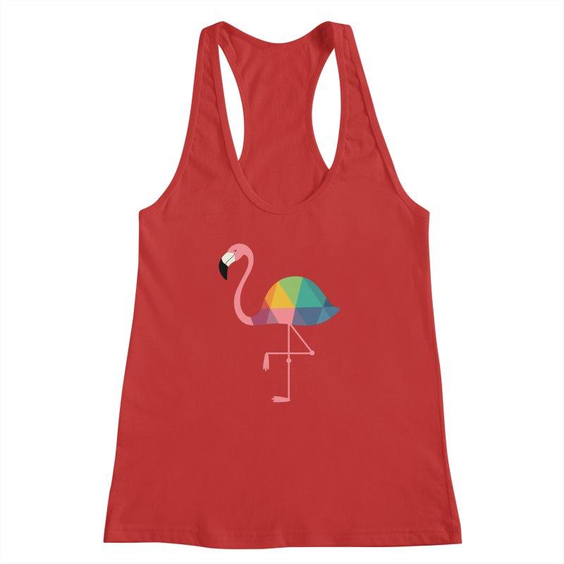 Rainbow Flamingo Women's  by andywestface's Artist Shop