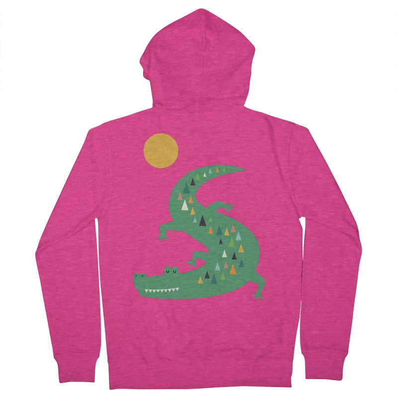 Sunbathing Women's French Terry Zip-Up Hoody by andywestface's Artist Shop