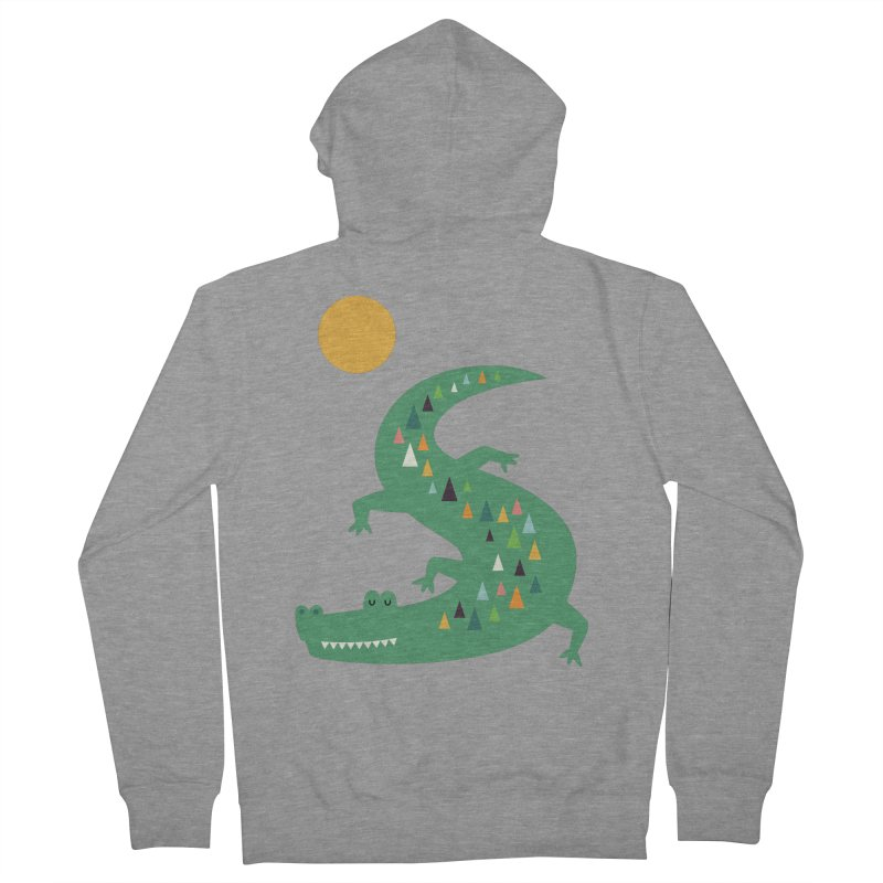 Sunbathing Men's French Terry Zip-Up Hoody by andywestface's Artist Shop