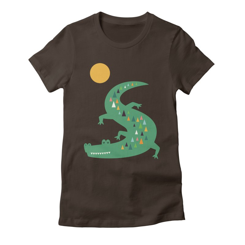 Sunbathing Women's Fitted T-Shirt by andywestface's Artist Shop