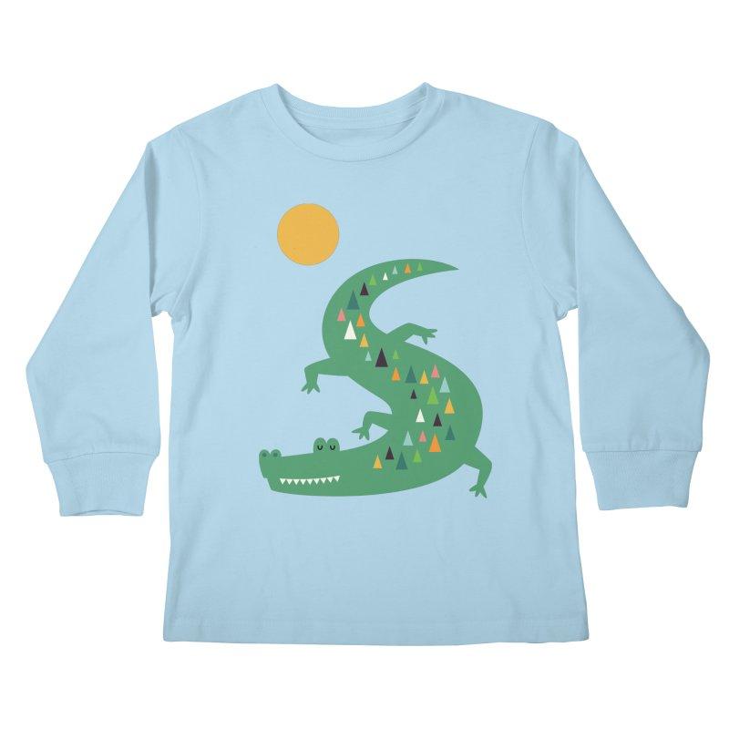 Sunbathing Kids Longsleeve T-Shirt by andywestface's Artist Shop