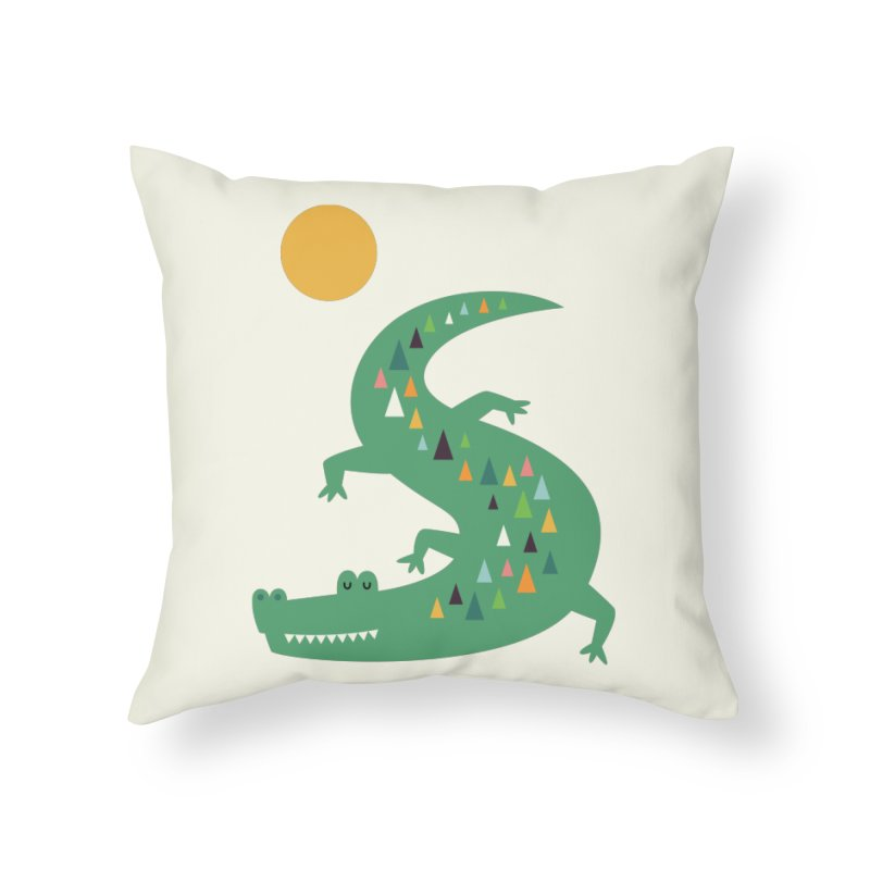 Sunbathing Home Throw Pillow by andywestface's Artist Shop