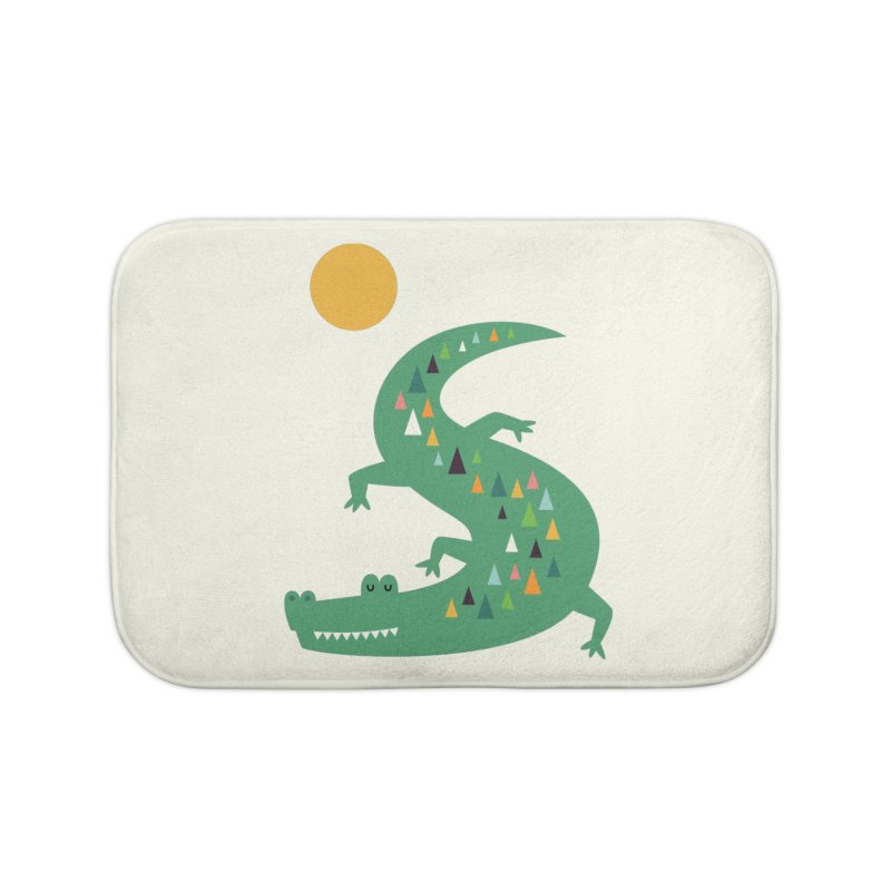 Sunbathing Home Bath Mat by andywestface's Artist Shop