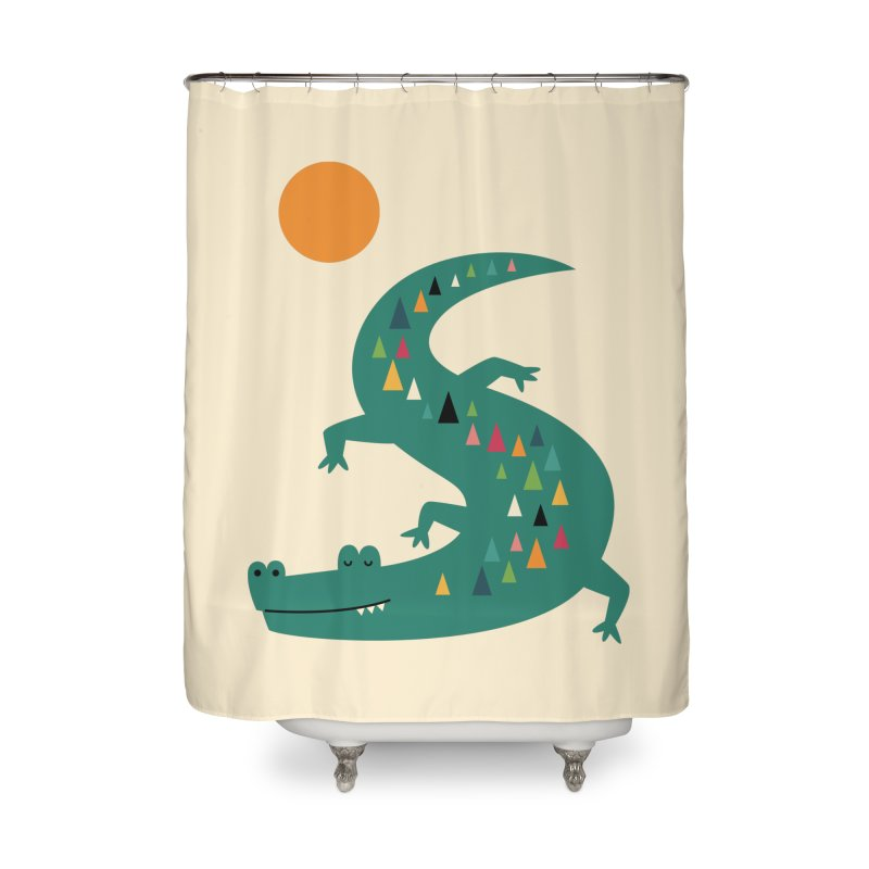 Sunbathing Home Shower Curtain by andywestface's Artist Shop