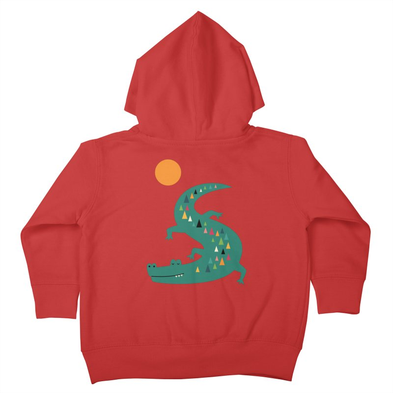Sunbathing Kids Toddler Zip-Up Hoody by andywestface's Artist Shop