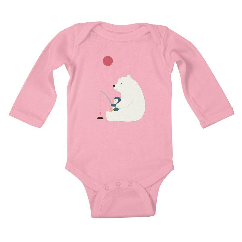 Buddy Kids Baby Longsleeve Bodysuit by andywestface's Artist Shop