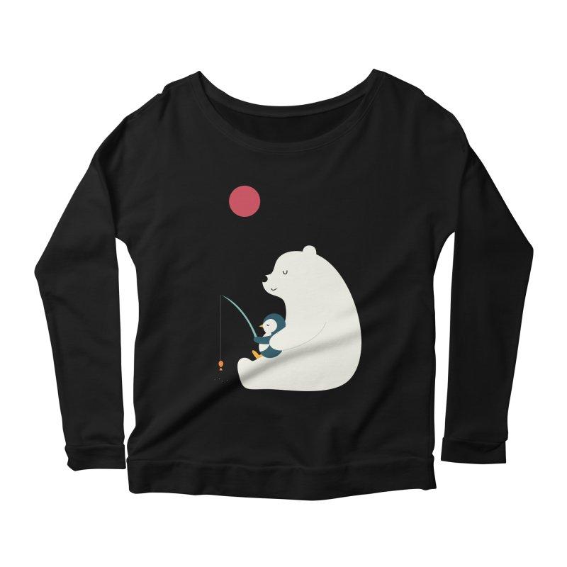 Buddy Women's Scoop Neck Longsleeve T-Shirt by andywestface's Artist Shop