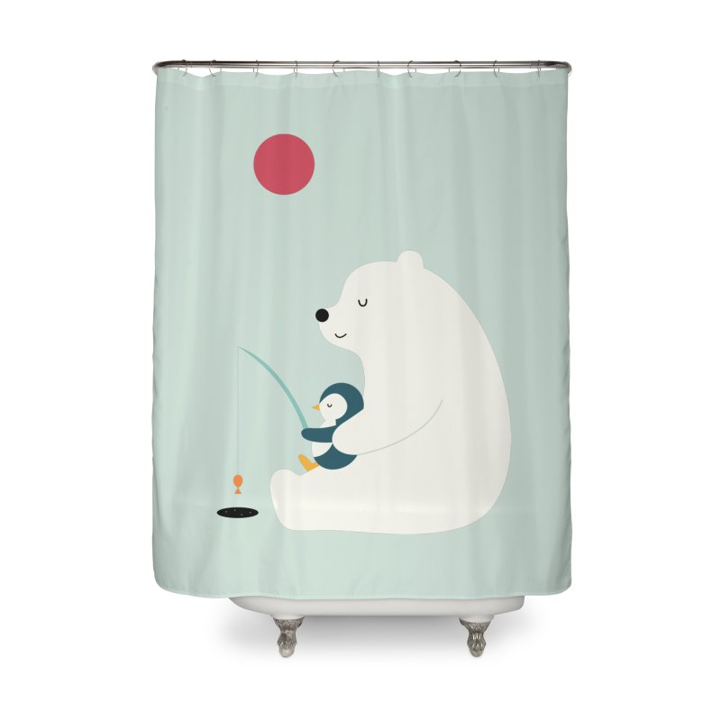Buddy Home Shower Curtain by andywestface's Artist Shop