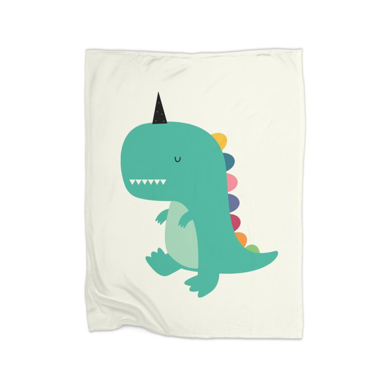 Dinocorn Home Blanket by andywestface's Artist Shop