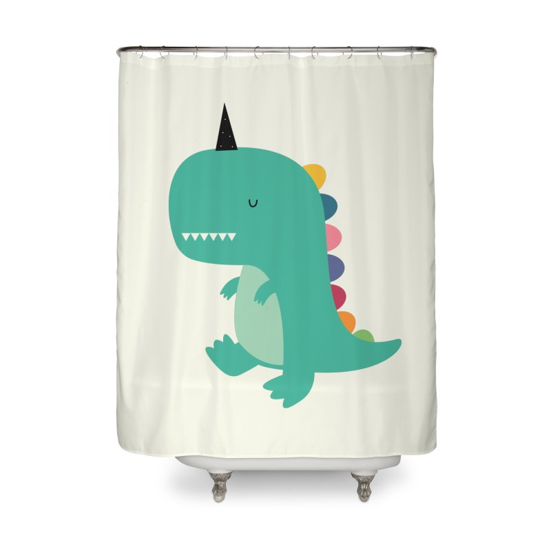 Dinocorn Home Shower Curtain by andywestface's Artist Shop