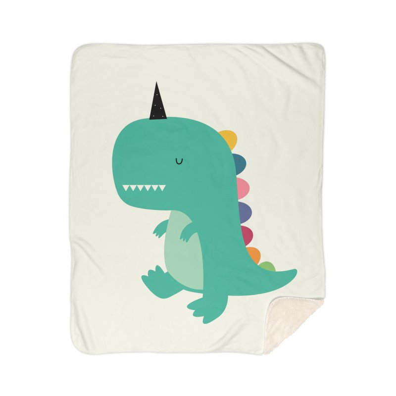 Dinocorn Home Sherpa Blanket Blanket by andywestface's Artist Shop