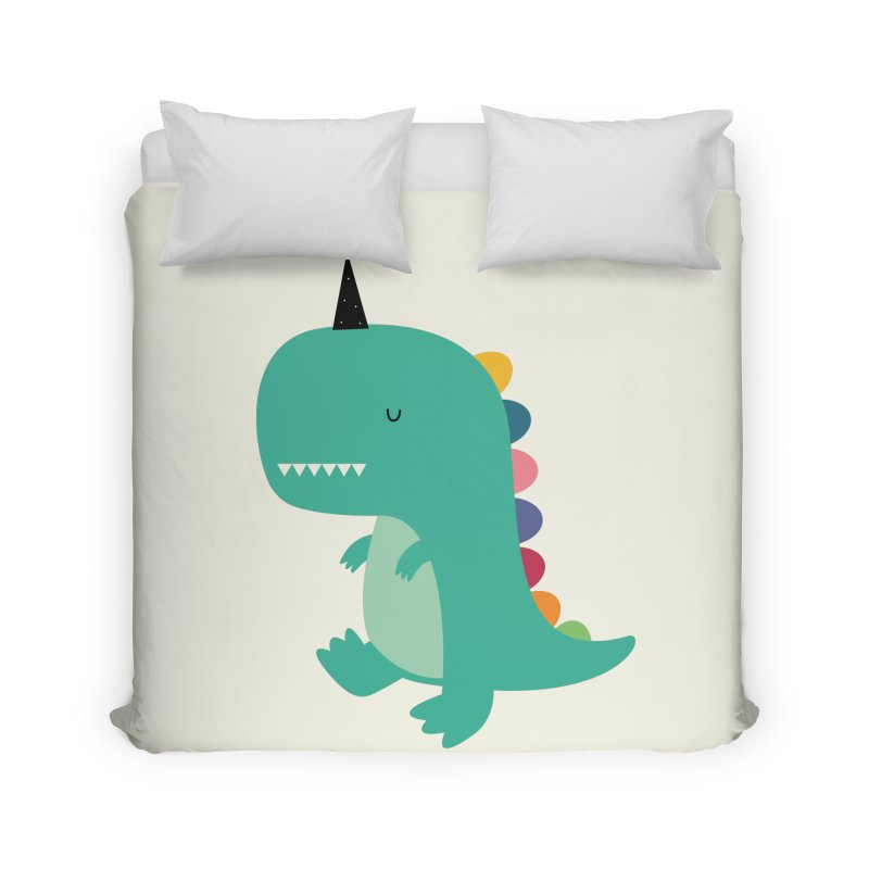 Dinocorn Home Duvet by andywestface's Artist Shop