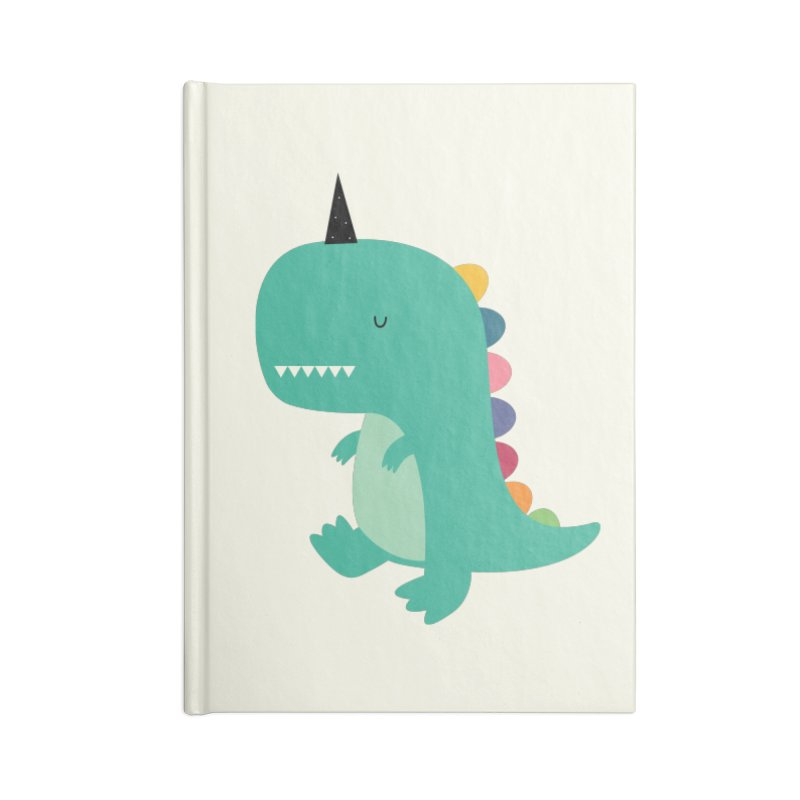 Dinocorn Accessories Lined Journal Notebook by andywestface's Artist Shop