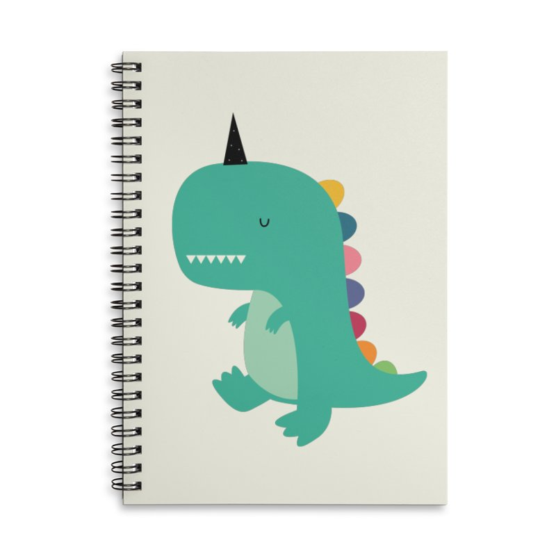 Dinocorn Accessories Lined Spiral Notebook by andywestface's Artist Shop