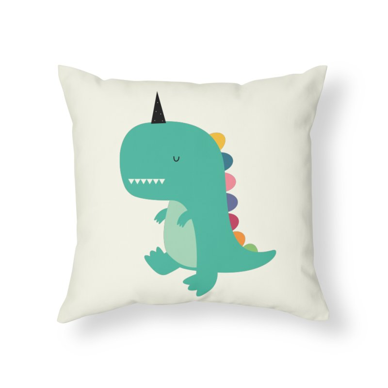 Dinocorn Home Throw Pillow by andywestface's Artist Shop