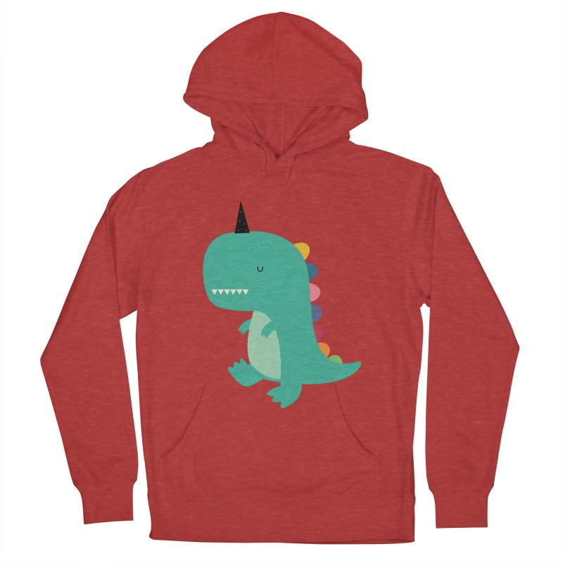 Dinocorn Women's French Terry Pullover Hoody by andywestface's Artist Shop