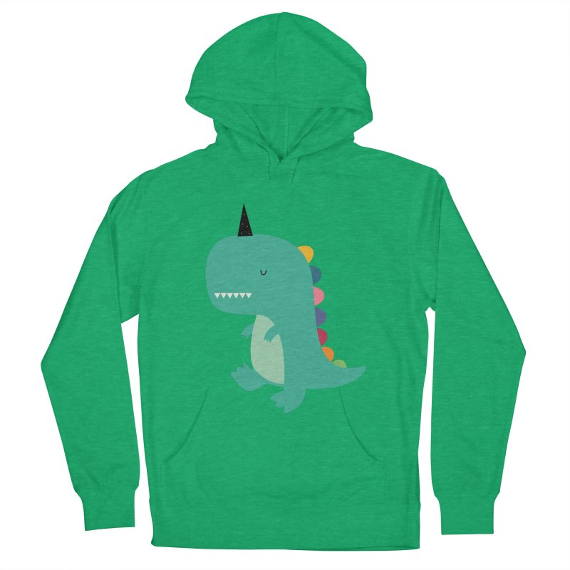 Dinocorn Men's French Terry Pullover Hoody by andywestface's Artist Shop