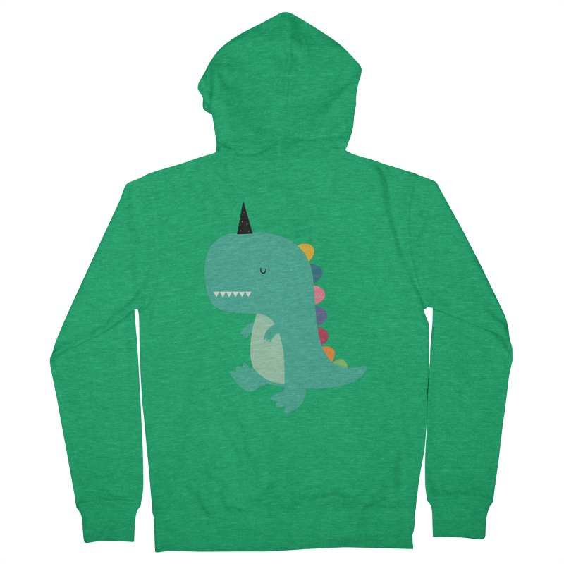 Dinocorn Women's French Terry Zip-Up Hoody by andywestface's Artist Shop