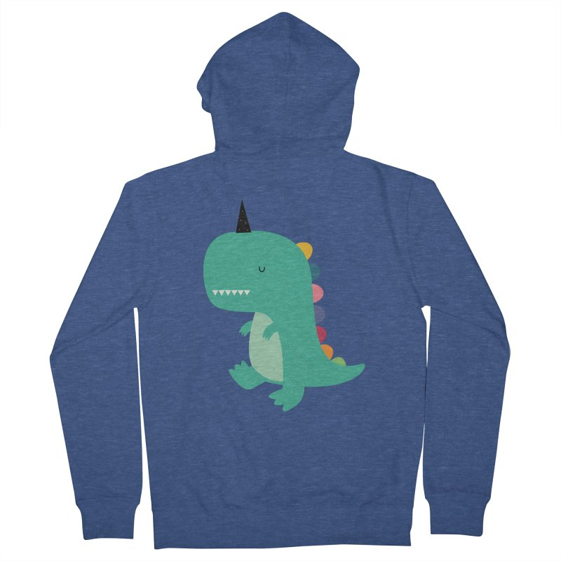 Dinocorn Men's French Terry Zip-Up Hoody by andywestface's Artist Shop