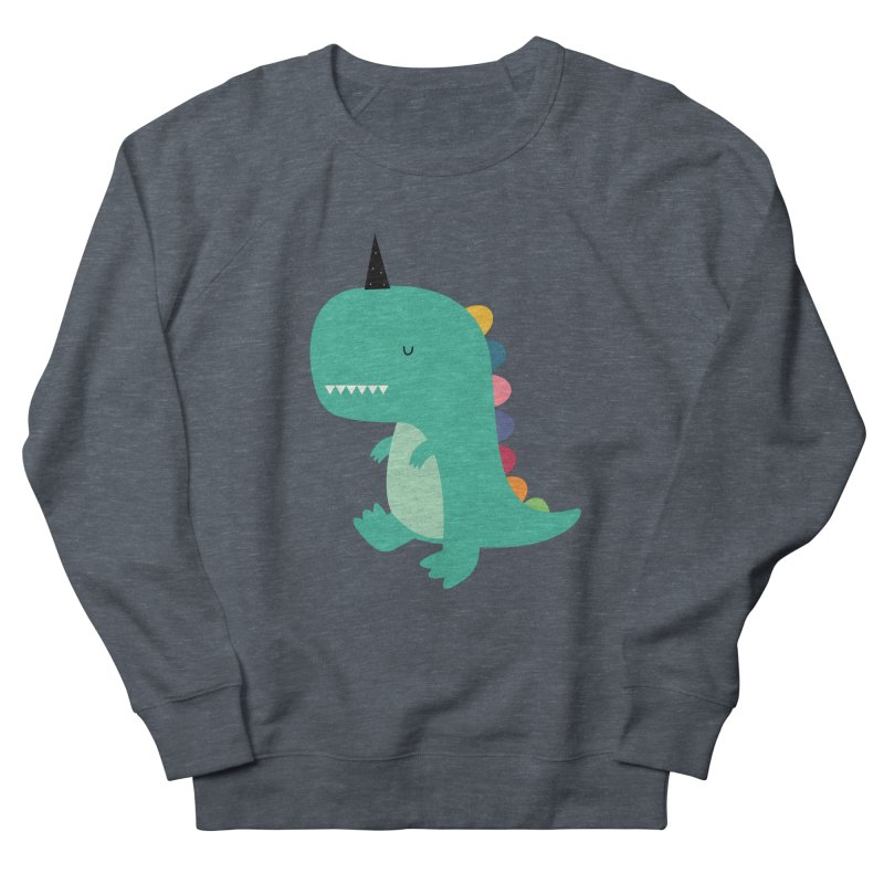 Dinocorn Women's French Terry Sweatshirt by andywestface's Artist Shop