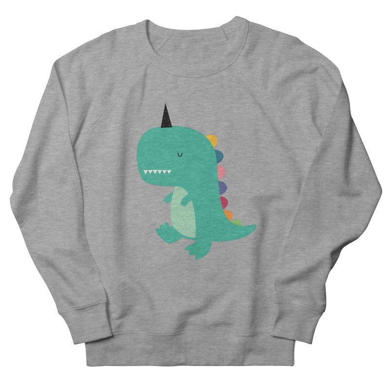 Dinocorn Men's French Terry Sweatshirt by andywestface's Artist Shop