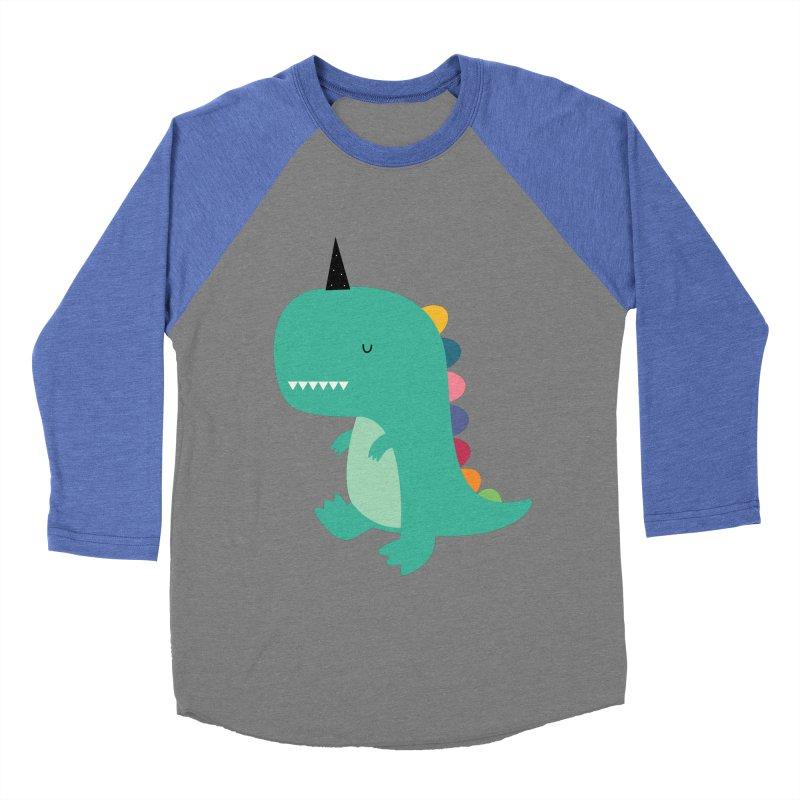 Dinocorn Women's Baseball Triblend Longsleeve T-Shirt by andywestface's Artist Shop
