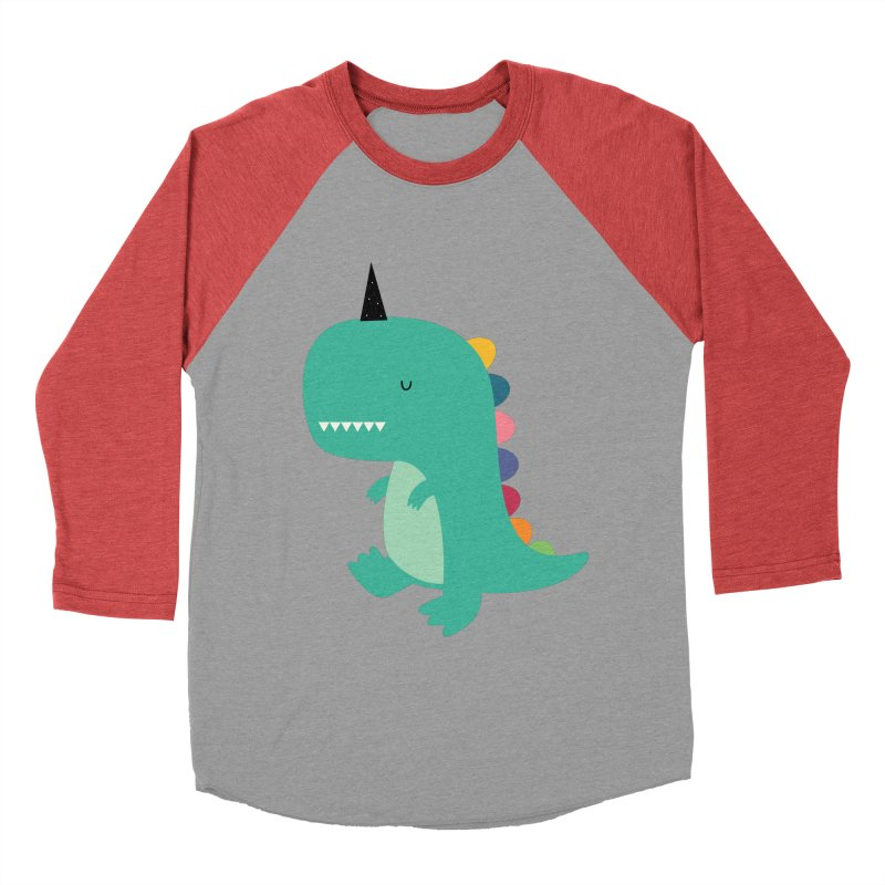 Dinocorn Men's Baseball Triblend Longsleeve T-Shirt by andywestface's Artist Shop