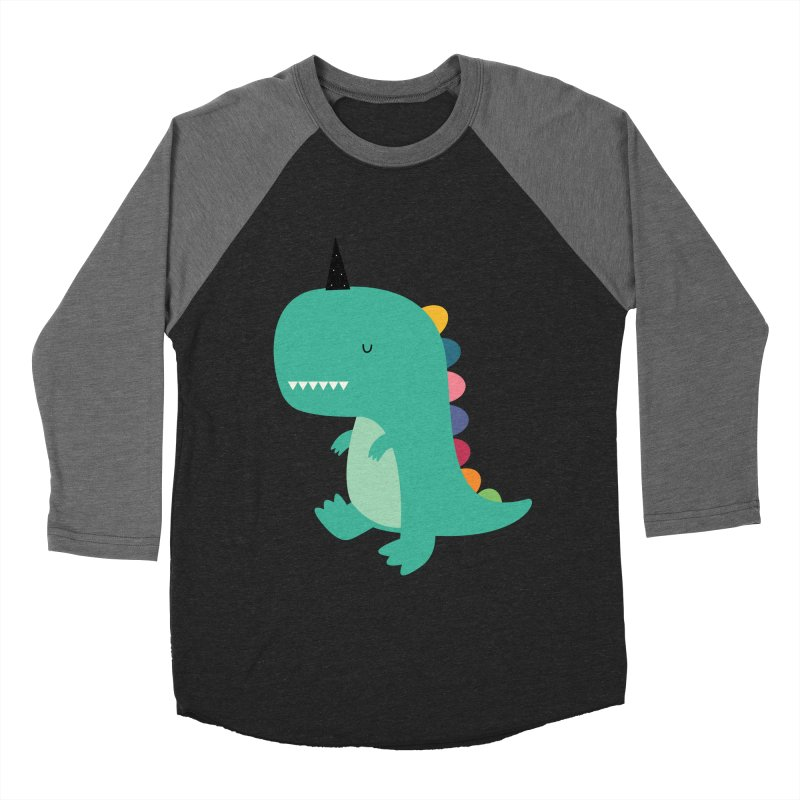 Dinocorn Men's Baseball Triblend Longsleeve T-Shirt by andywestface's Artist Shop