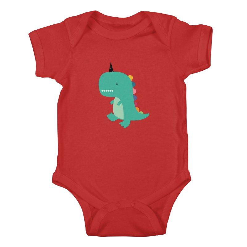 Dinocorn Kids Baby Bodysuit by andywestface's Artist Shop