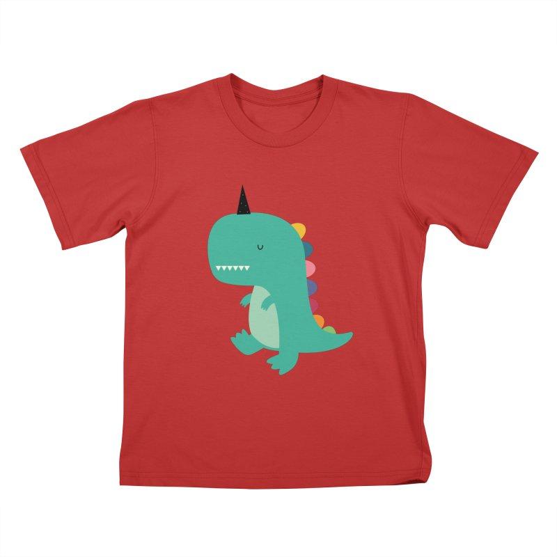 Dinocorn Kids T-Shirt by andywestface's Artist Shop