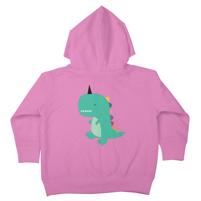 Dinocorn Kids Toddler Zip-Up Hoody by andywestface's Artist Shop